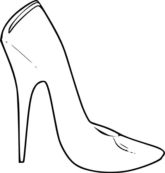 shoe art   High Heel Shoes Women Fashion clip art - vector clip art online ...
