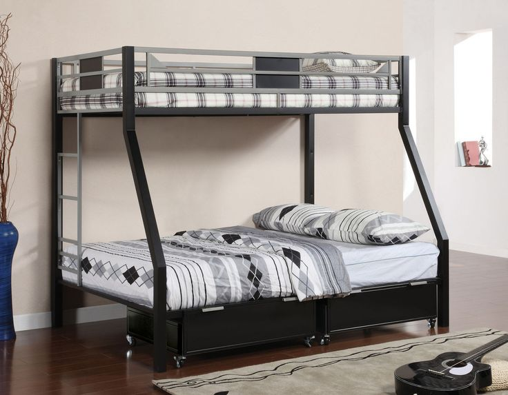 Twin/Full Bunk Bed Clifton Collection Cm-Bk1022