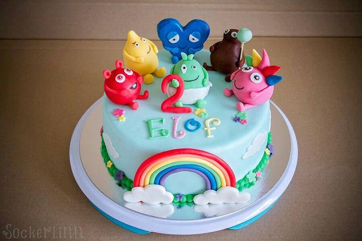 Babblarna tårta Babblarnatårta cake barn födelsedag birthday rainbow ⭐sockerlinn.se⭐