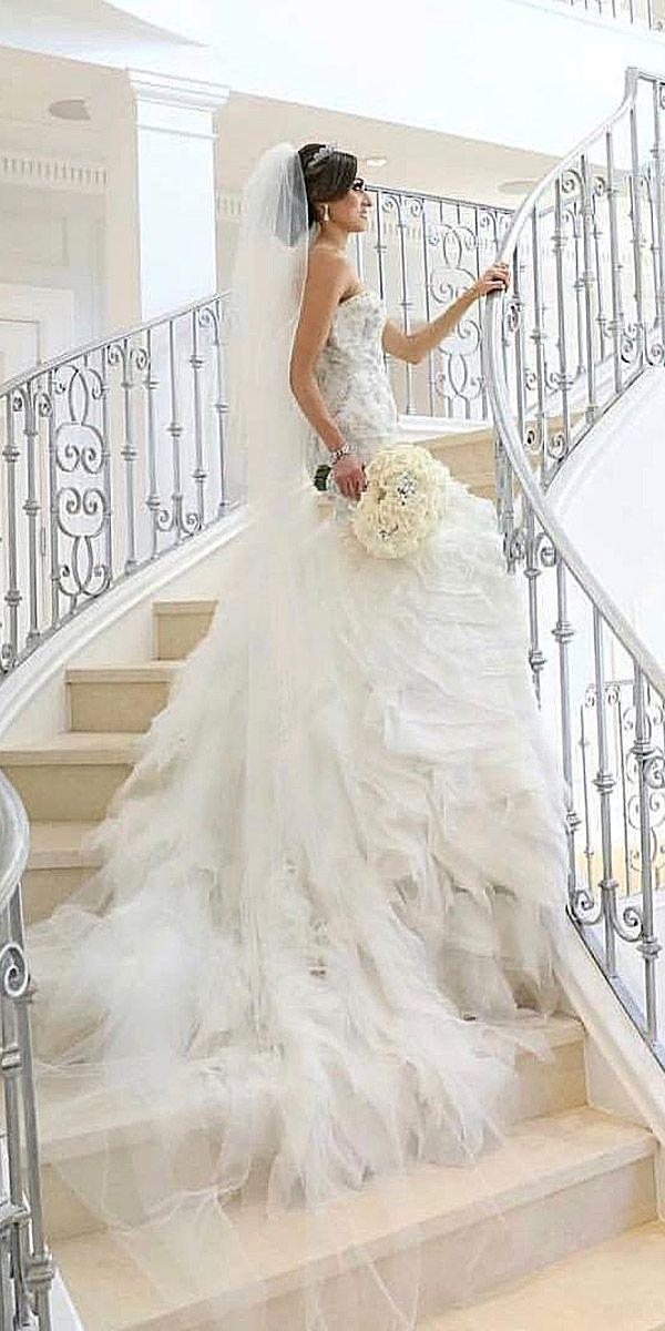 24 Real Brides In Ines Di Santo Wedding Dresses ❤ See more: http://www.weddingforward.com/ines-di-santo-wedding-dresses/ #wedding #dresses