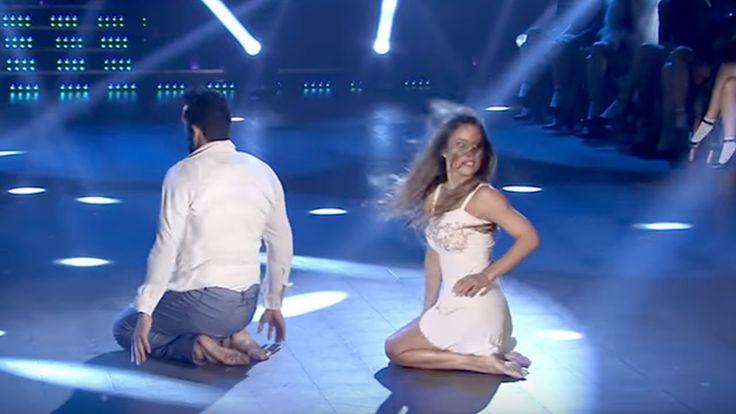 """Lourdes Sánchez bailó con Gabo Usandivaras """"Rasguña las piedras"""" de Sui ..."""