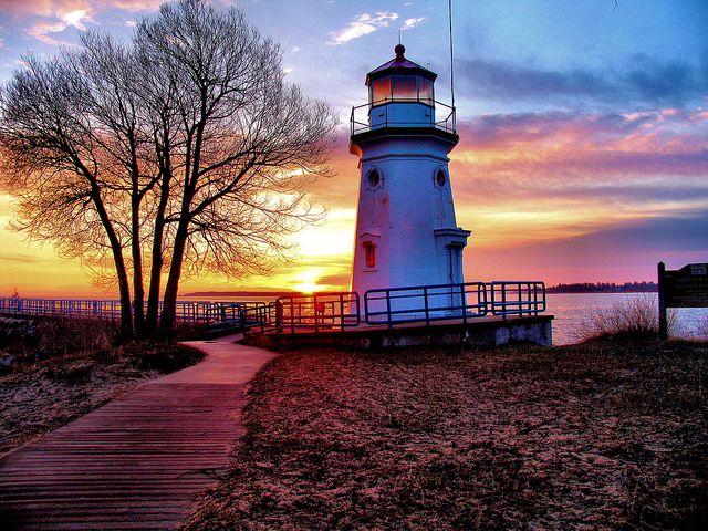 Cheboygan Crib Light, Cheboygan, Michigan.