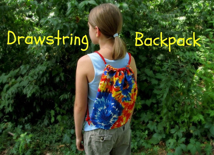 Drawstring Backpack tutorial, diy