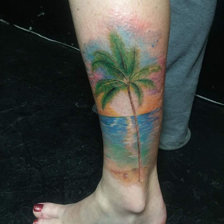 Perfect tree tattoo for legs