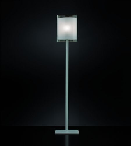 'SAMBA' floor lamp with double glass, screen printing lines. E27 socket for LED Dimensions: 36x36x170h Colours: white - yellow - orange - green Price: € 305 each + shipping For contacts and orders: info@mirabiliashop.com ITALY