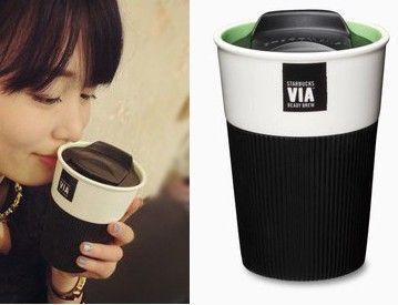 starbucks vía la taza, la calidad clásica taza de café de cerámica / taza conveniente taza de viaje / coche