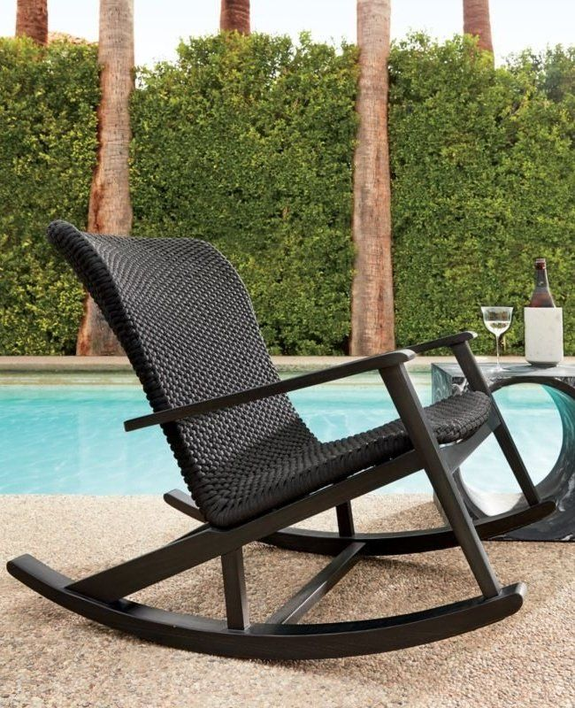Jannis Ellenberger S Black On Black Design Is Not Your Grandmother S Rocking Ch Comfortable Outdoor Chairs Modern Outdoor Rocking Chairs Outdoor Rocking Chairs
