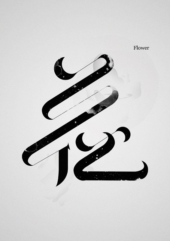 花·芸 Flower·Art Chinese typography Type design obsession. Beauty