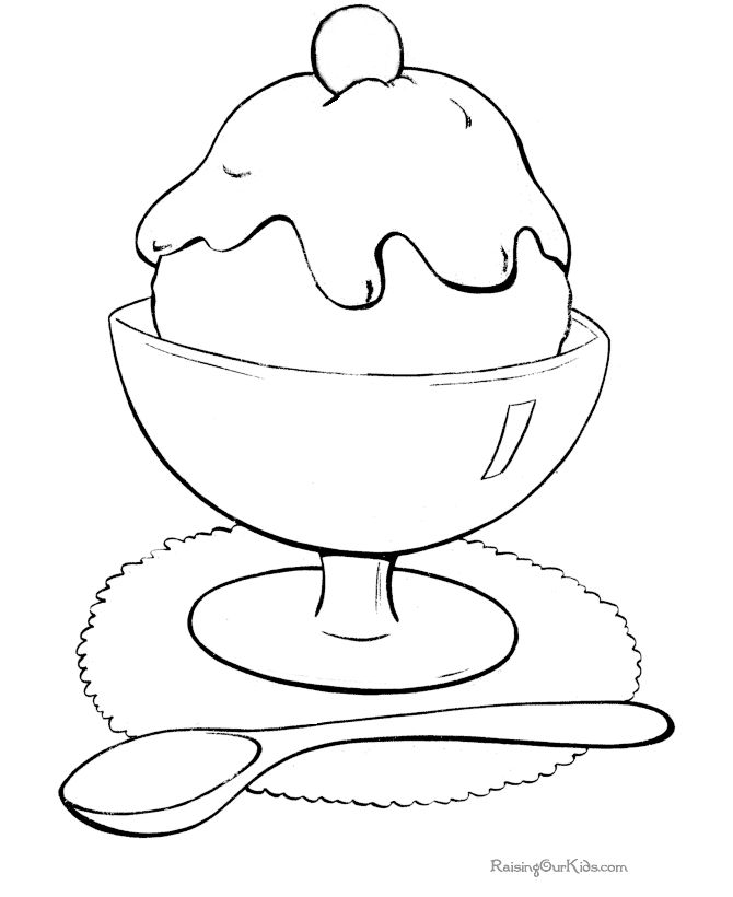 Ice Cream coloring page to print and color