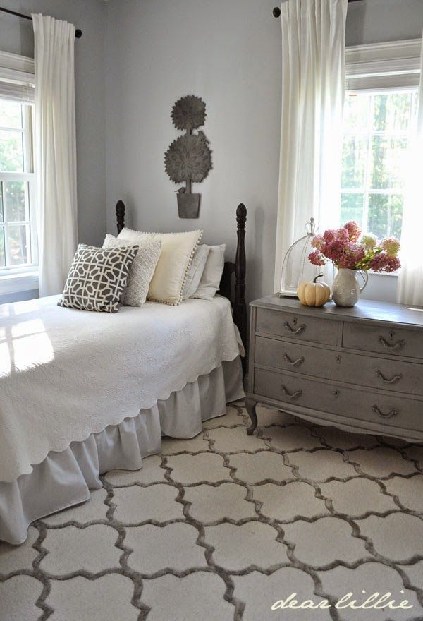 This rug is beautiful and it goes so well with the dresser. Love this style Dear Lillie