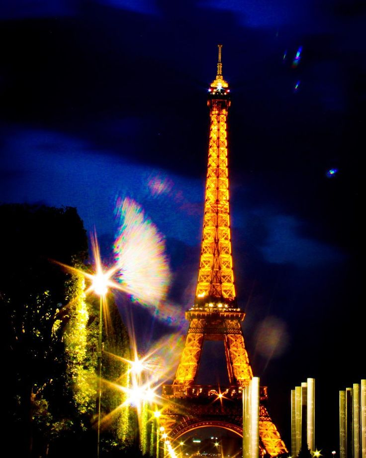 The lights of the world famous tower