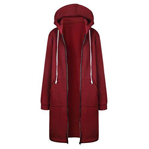 SHOBDW Manteaux Femme Hiver Chaud Casual Pullover Blouson Tops Mode, Rouge Gris Rose Bleu,S-XXXXXL: Taille: S Buste: 100cm Manches: 60cm…