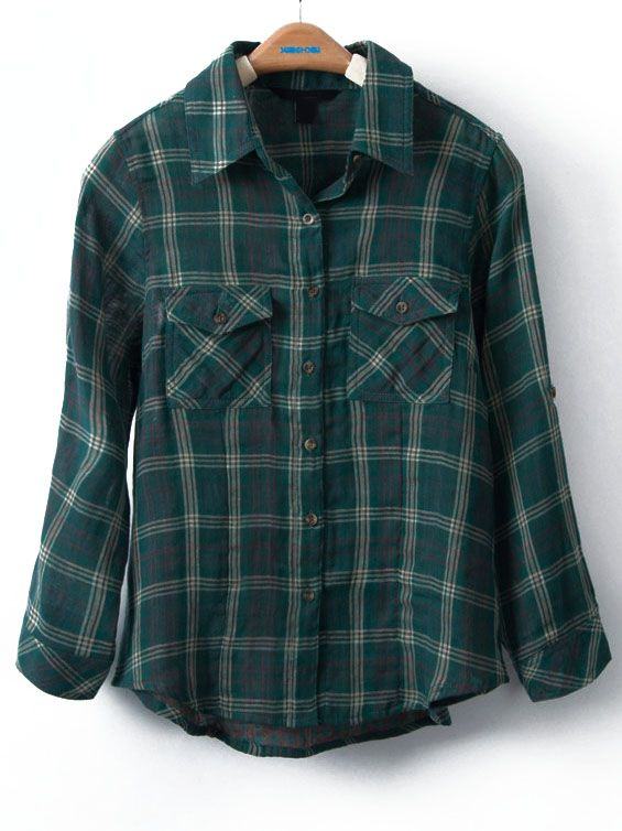 Green Plaid Button Up. Working in the yard as the fall breezes blow, Camping, Fishing, Hunting, or Hiking. It's what to wear.