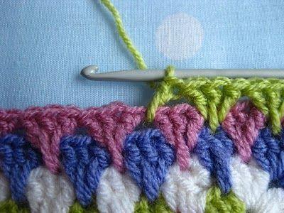 Spike granny stitch