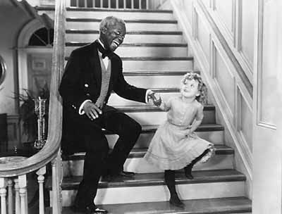 """Shirley Temple and Bojangles. """"The Little Cornell"""" Stair Dance"""