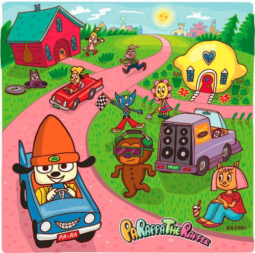 Signed Print - Parappa Anime Scene
