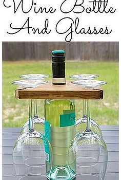 carrier wine bottle glasses diy, diy, woodworking projects