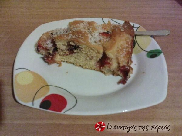 Κέικ με δαμάσκηνα, βανίλιες, αχλάδια και καρύδα #sintagespareas