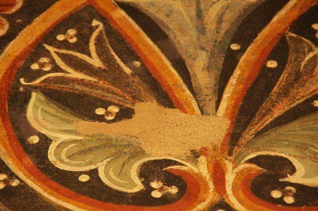 """Maestro di Sant' Agostino - S. Guglielmo da Malavalle, dettaglio - Affresco riportato su telaio - Seconda metà del XIII secolo -  Pinacoteca civica """"B. Molajoli"""" di Fabriano (Marche, Italia)"""