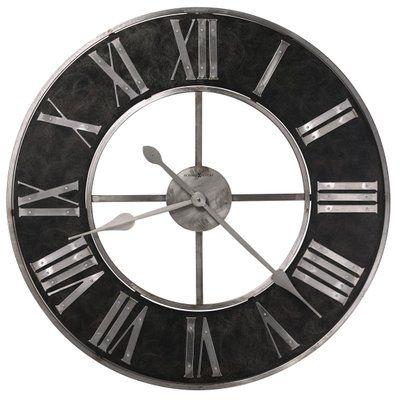 Howard Miller Oversized Dearborn 32 Wall Clock Wayfair Howard Miller Wall Clock Gallery Wall Clock Large Metal Wall Clock