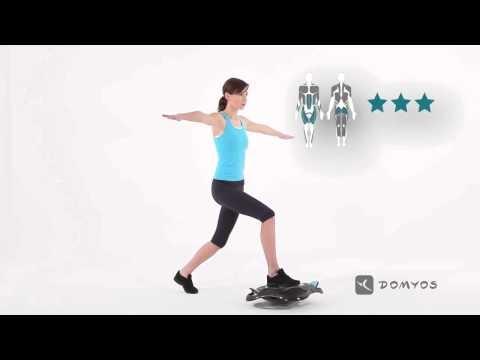 [DOMYOS] ABDO GAIN TRAINER - Exercice n°12 Fentes en équilibre