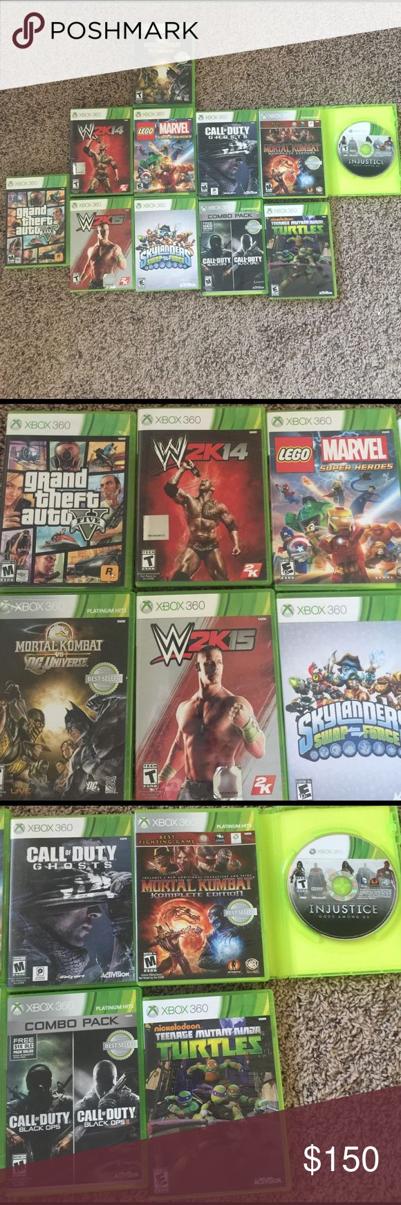 Xbox 360 Games You Get 11 Games For The Xbox 360 A Few Are In