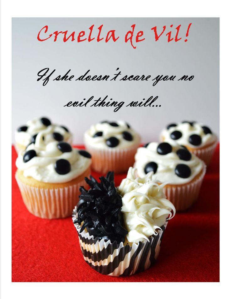 #DisneySide Cruella de Vil cupcake