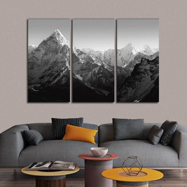 Himalaya Mountains Multi Panel Canvas Wall Art Wall Canvas Wall Decor Bedroom Multi Panel Wall Art