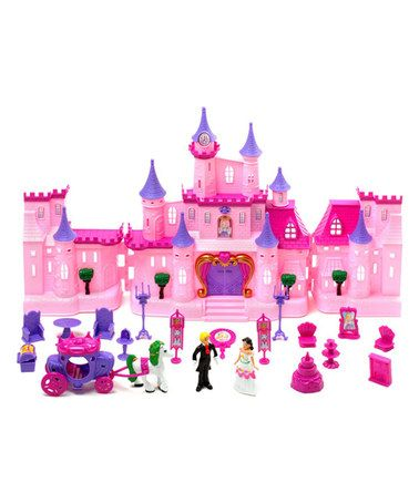 Look at this #zulilyfind! Dream Castle Light-Up Princess Doll House #zulilyfinds