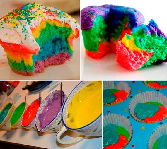 32 Colorful Rainbow Food Designs. Makes me want to have a rainbow party for Streeter's next birthday.
