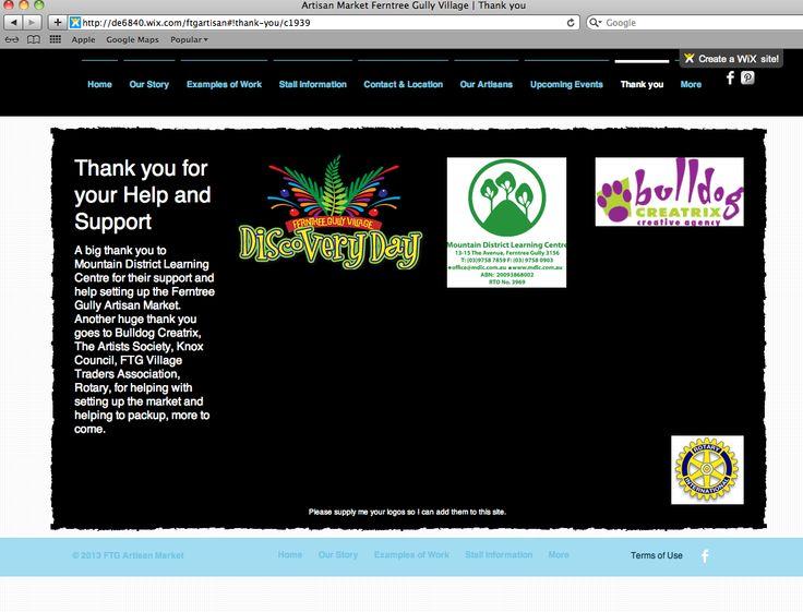 http://de6840.wix.com/ftgartisan Thankyou page of our website by Debbi Douglas 2013