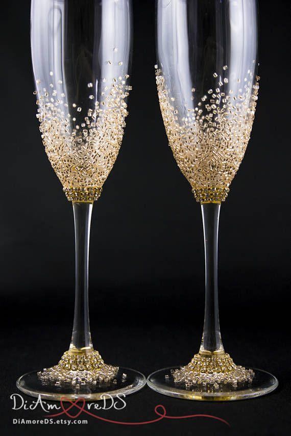 Wedding Flutes Toasting Flutes Personalized Champagne Glasses Rose Gold Engraved Weddi Wedding Wine Glasses Decorated Wine Glasses Wedding Champagne Flutes