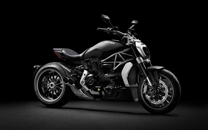 Hämta bilder Ducati XDiavel, Cruiser, Svart motorcyklar, coola cykel, Italienska motorcyklar