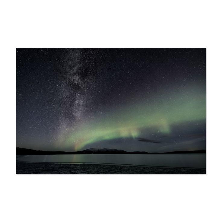 Noir Gallery Aurora Borealis Lapland Finland Unframed Art Print/Poster (20 x 24), Blue
