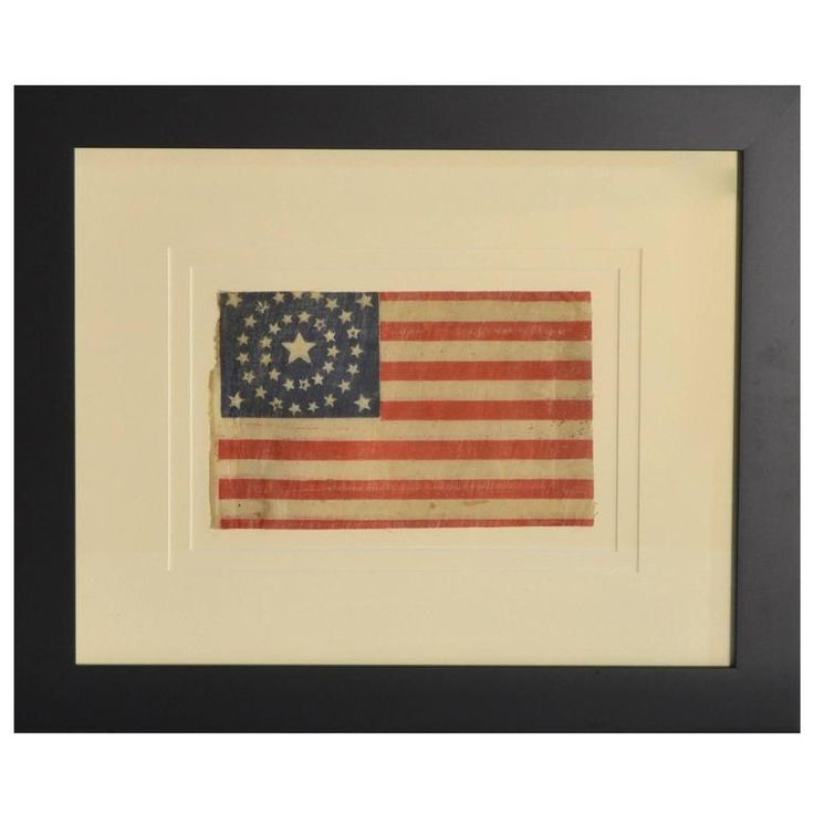 Rare Antique 37 Star Flag, circa 1867 | From a unique collection of antique and modern collectibles and curiosities at https://www.1stdibs.com/furniture/more-furniture-collectibles/collectibles-curiosities/