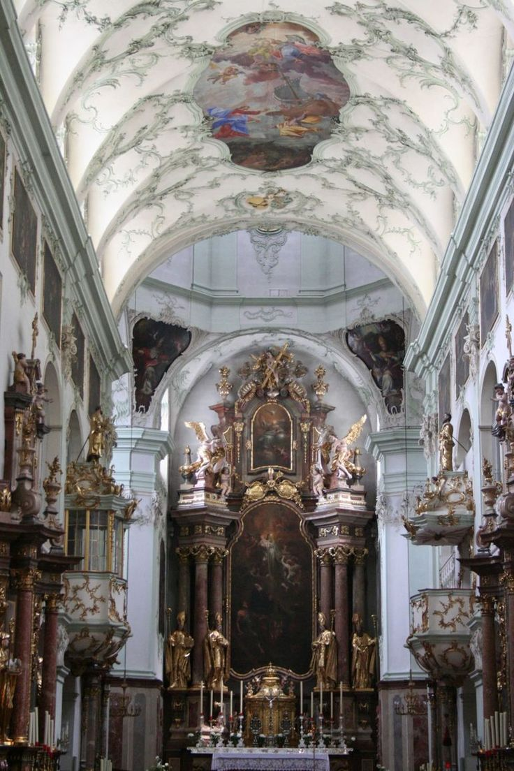 Abbey Church of St. Peter in Salzburg, Austria founded by St. Rupert (696 AD), who is buried inside. The church of a Benedictine abbey. I'm drooling....