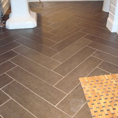 Find This Pin And More On Basement Ideas. Herringbone Layout Tile Floor ...