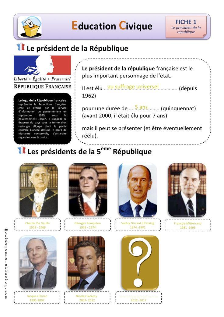Education civique : Le président de la république - Bout de gomme
