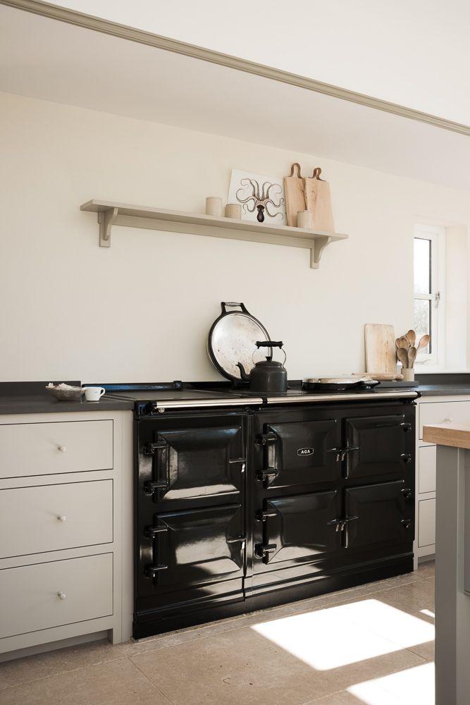 Sussex Designer Kitchens. A lovely black AGA in deVOL s West Sussex Kitchen 186 best Modern Aga images on Pinterest  kitchen