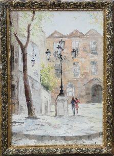 На улицах Парижа - Городской пейзаж <- Картины маслом <- Картины - Каталог | Универсальный интернет-магазин подарков и сувениров