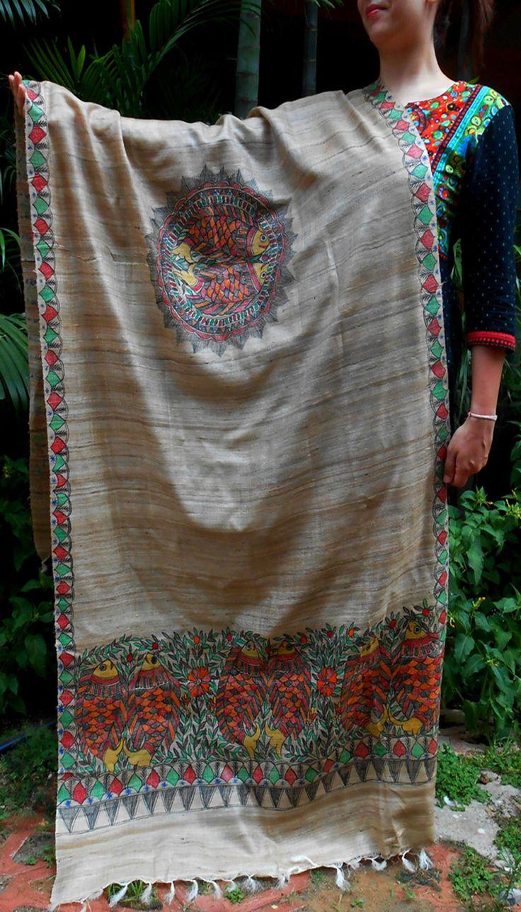 Fabric painting on dupatta