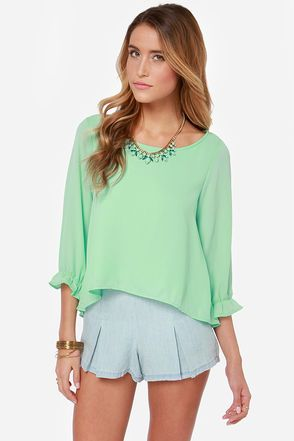 Best Day Ever Mint Green Top  | @LuLu*s