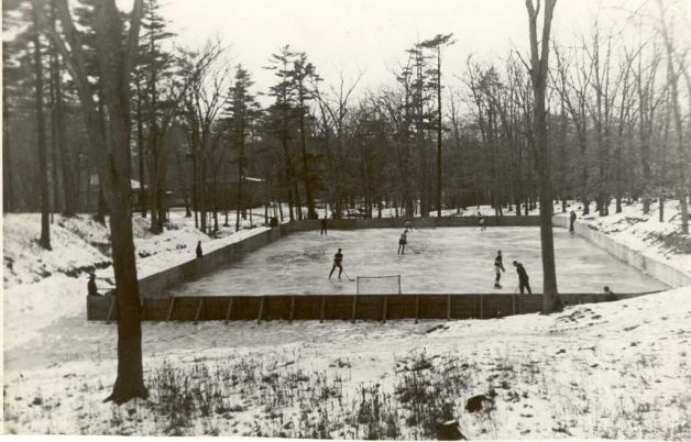 This undated photo shows the former outdoor hockey rink at Union College. (Courtesy Union College)