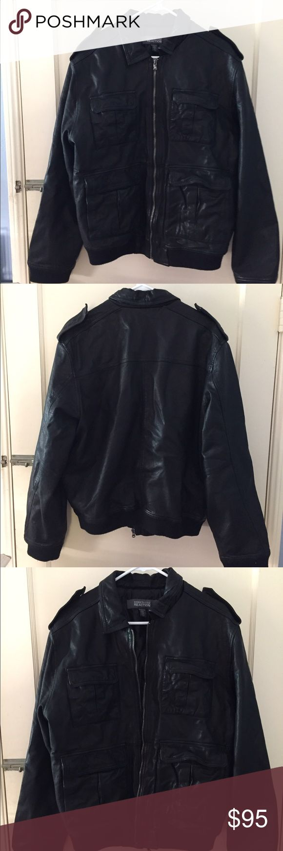 Kenneth Cole Reaction Men's Faux-Leather Jacket Kenneth Cole Men's Faux-Leather Jacket in excellent condition. I've only worn it a handful of times and it's in excellent condition. Kenneth Cole Reaction Jackets & Coats Performance Jackets
