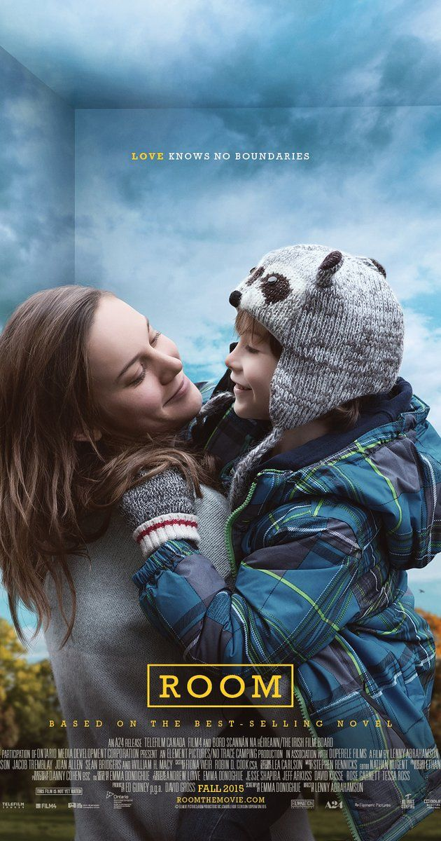 Directed by Lenny Abrahamson.  With Brie Larson, Jacob Tremblay, Sean Bridgers, Wendy Crewson. After five-year-old Jack and his mother escape from the enclosed surroundings that Jack has known his entire life, the boy makes a thrilling discovery.