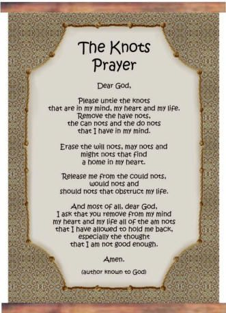 It's just an image of Critical The Knots Prayer Printable