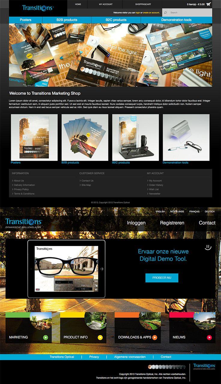 Website design voor Transitions