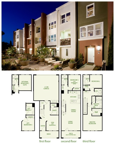 Plan 3 Is A New Floor Plan For Sale With And A Garage. It Is Located At  Mosaic Walk In Garden Grove, California.