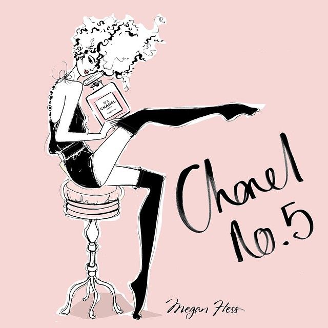 Megan Hess-Chanel No. 5 Fashion Illustration