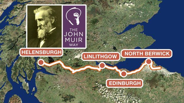 John Muir Way - a path to hike when we go to Scotland
